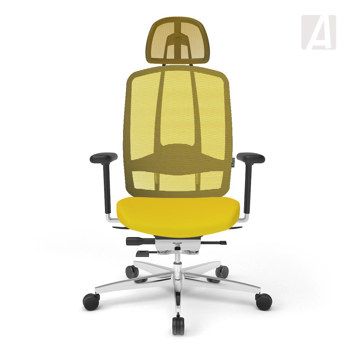 wagner b rostuhl alumedic 10 gelb. Black Bedroom Furniture Sets. Home Design Ideas