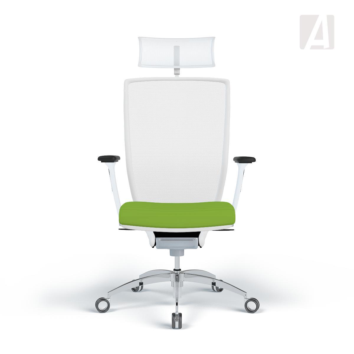 Bürostuhl ergonomisch ball  WAGNER Bürostuhl Titan 10 - Sitz Grün 3D - Gestell Weiß   Apendics.de