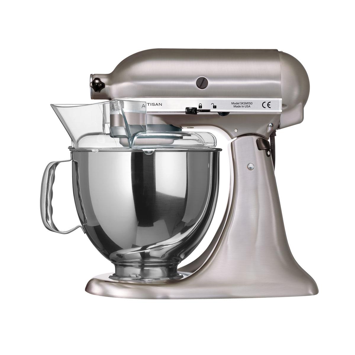 kitchenaid artisan küchenmaschine gebürstetes metall