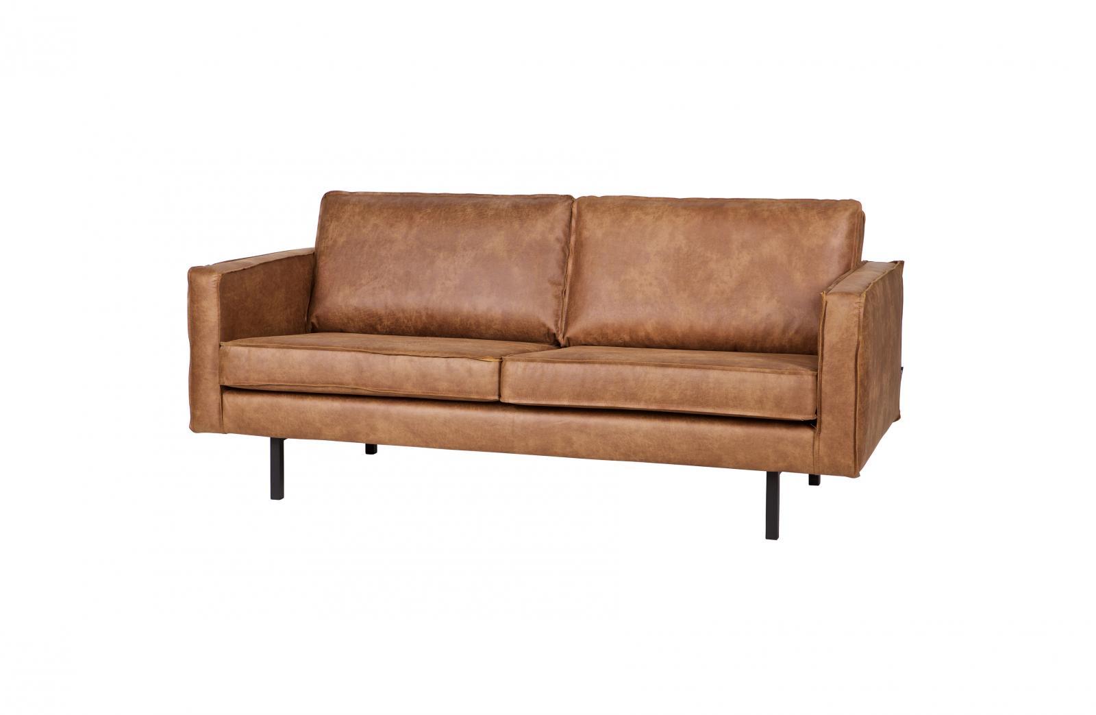 bepurehome rodeo ledersofa 2 5 sitzer cognac ledercouch braun. Black Bedroom Furniture Sets. Home Design Ideas