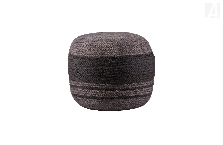bepurehome course pouf mit stripfe grau. Black Bedroom Furniture Sets. Home Design Ideas