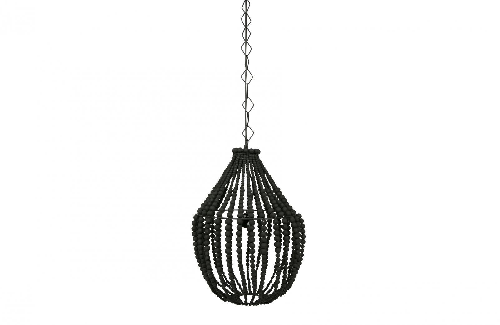 bepurehome funale kronleuchter holz gro schwarz. Black Bedroom Furniture Sets. Home Design Ideas