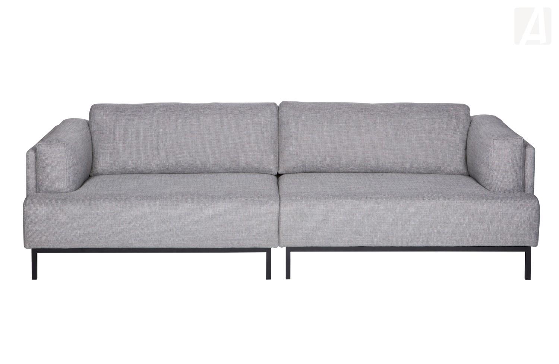 Woood Uma 3 Sitzer Sofa Mit Metallgestell Grau Melange