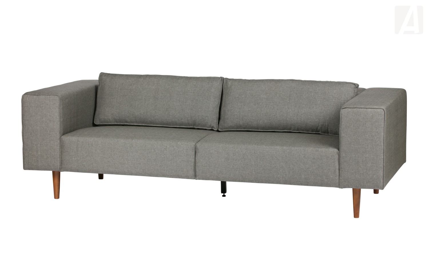 woood bjork 3 sitzer sofa mit holzbeinen grau. Black Bedroom Furniture Sets. Home Design Ideas