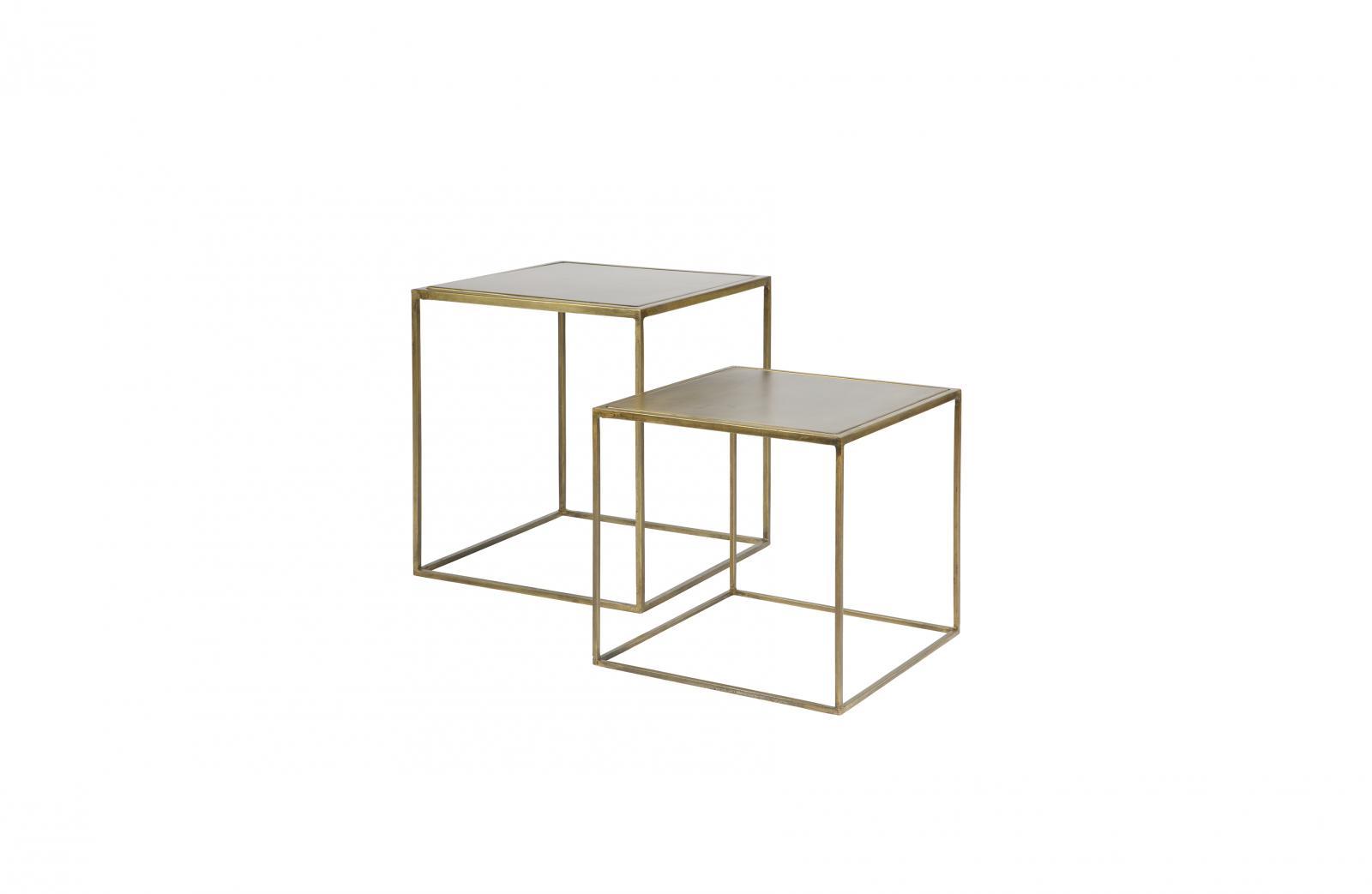 bepurehome 2er set metallic beistelltisch gro e metall messing. Black Bedroom Furniture Sets. Home Design Ideas