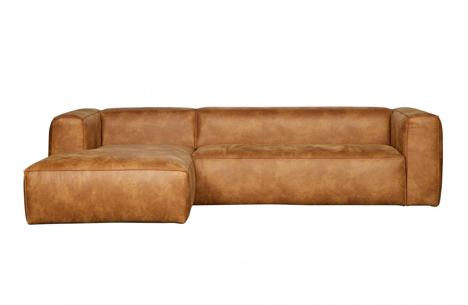 woood bean ecksofa leder cognac eckcouch braun links. Black Bedroom Furniture Sets. Home Design Ideas